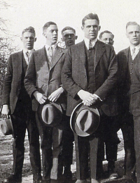 Robert (father), Charlie, Dougall, George, Wilbur, Cecil, Grant, Ray Janes circa 1929