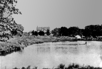 Janes' Homestead with pond picture